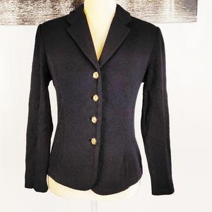 ST. JOHN basics black blazer